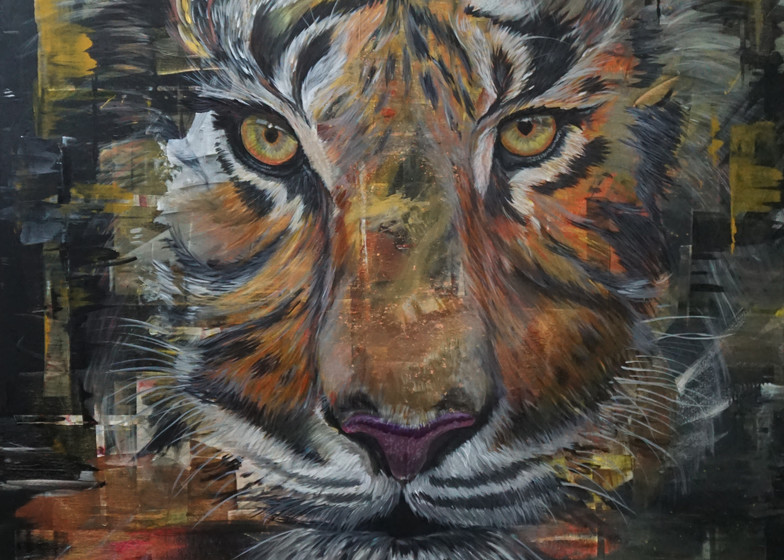 Strength - Tiger Painting by Brian Nori