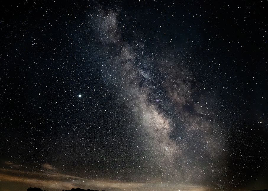 Galactic Core With Two Meteos Photography Art | Hatch Photo Artistry LLC