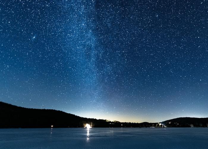 Winter Stars Post Pond Lyme Nh Photography Art | Hatch Photo Artistry LLC