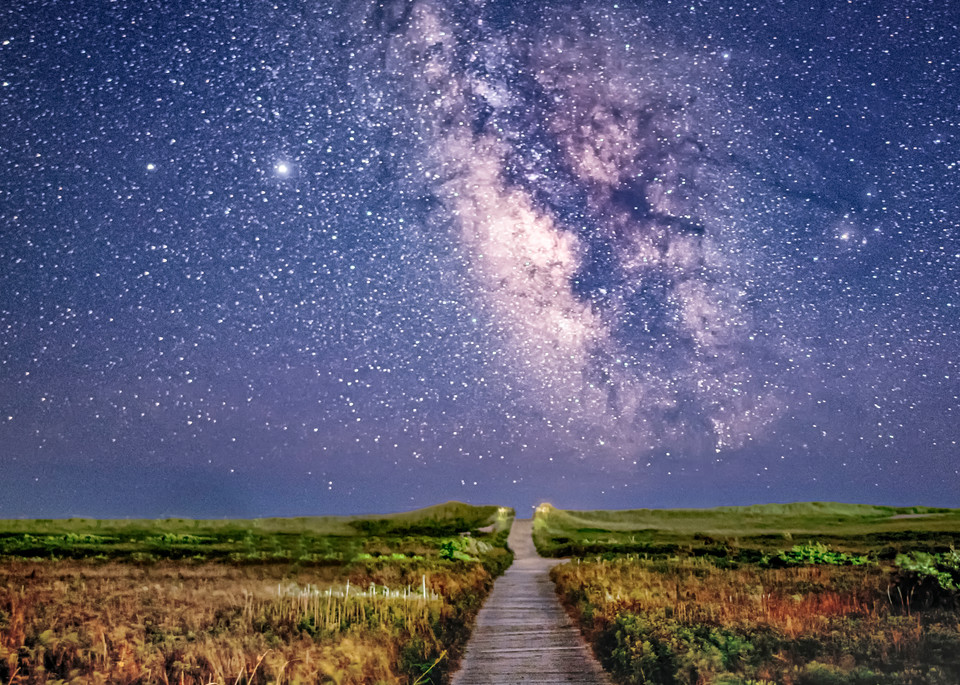 South Beach Milky Way Path Art | Michael Blanchard Inspirational Photography - Crossroads Gallery