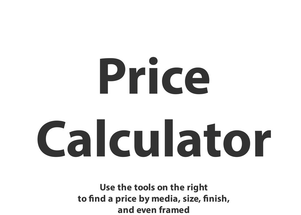Price Calculator Tool Photography Art | N2 the Woods Photography - Nature and Wildlife Artwork