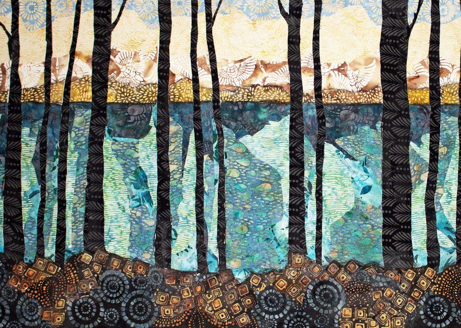 View From Shore Print Art   Sharon Tesser LLC