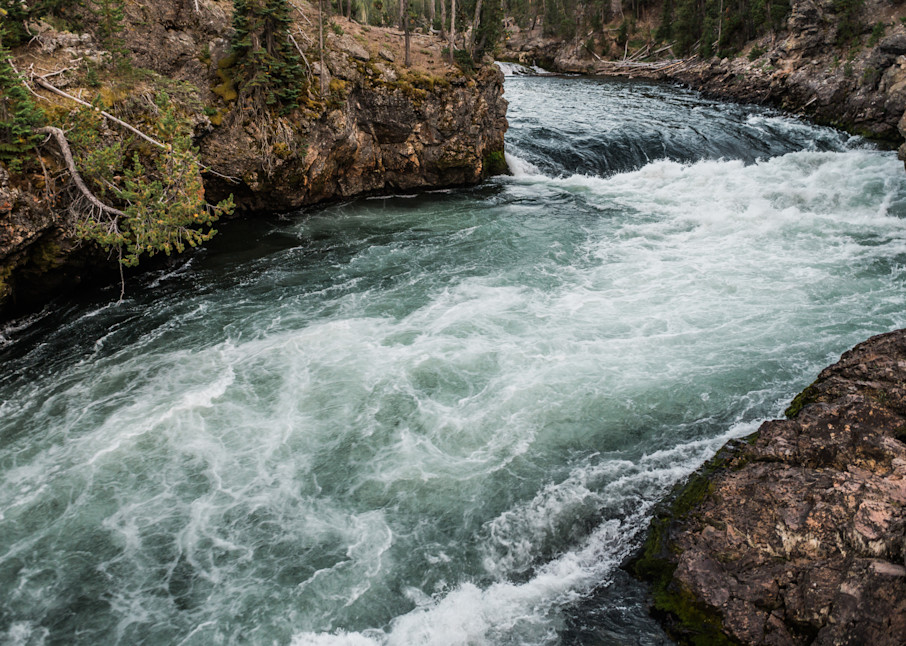 Upper Falls Of The Yellowstone River Photography Art   Casey McFarland Photography