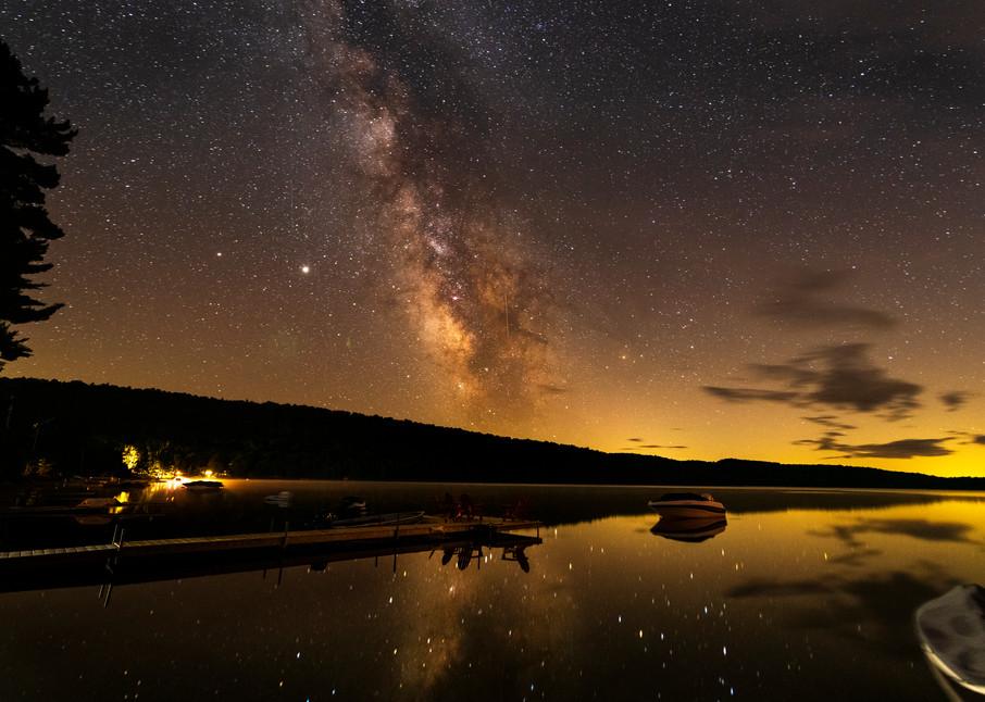 Limkiln Lake Milky Way Dock Photography Art | Kurt Gardner Photogarphy