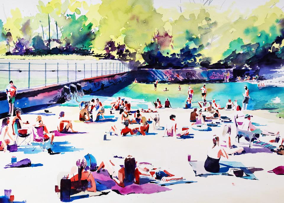 Austin   Barton Springs 2b Art | Steven Dragan Fine Art