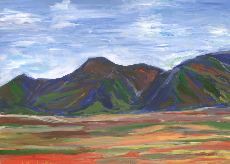 Orange Fields Along The Garden Route Art | Linda Sacketti