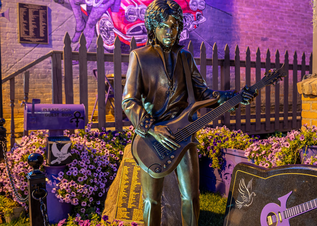 Prince Statue And Mural Photography Art   William Drew Photography