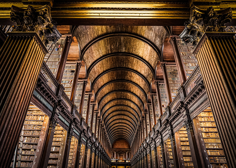 The Long Room at Trinity College in Dublin, Ireland