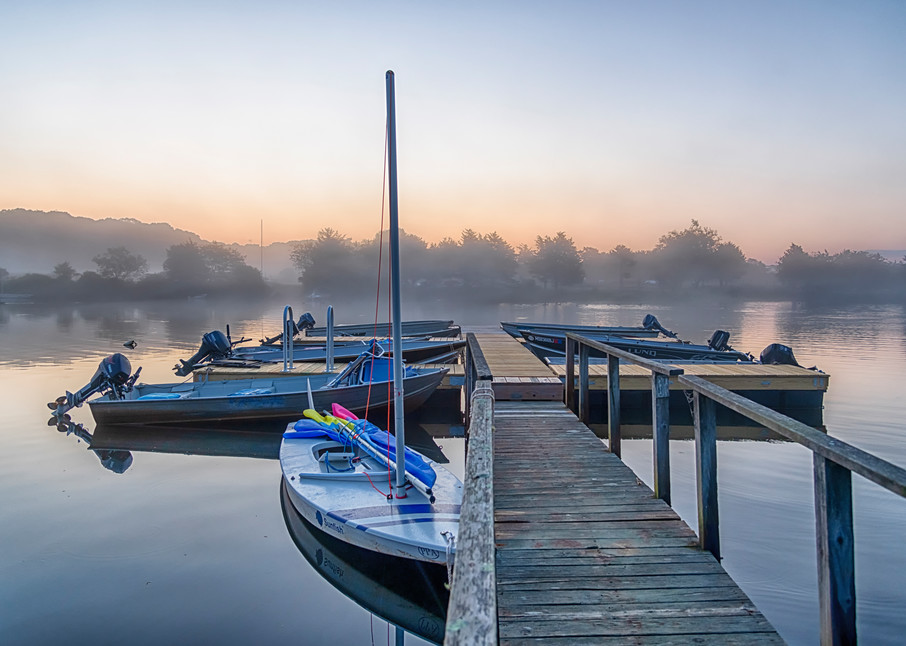 Great Tisbury Pond Late Summer Fog Art   Michael Blanchard Inspirational Photography - Crossroads Gallery