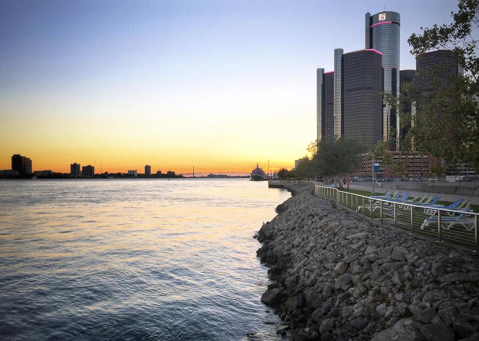 Uss Detroit At Dusk Art | Picture Detroit