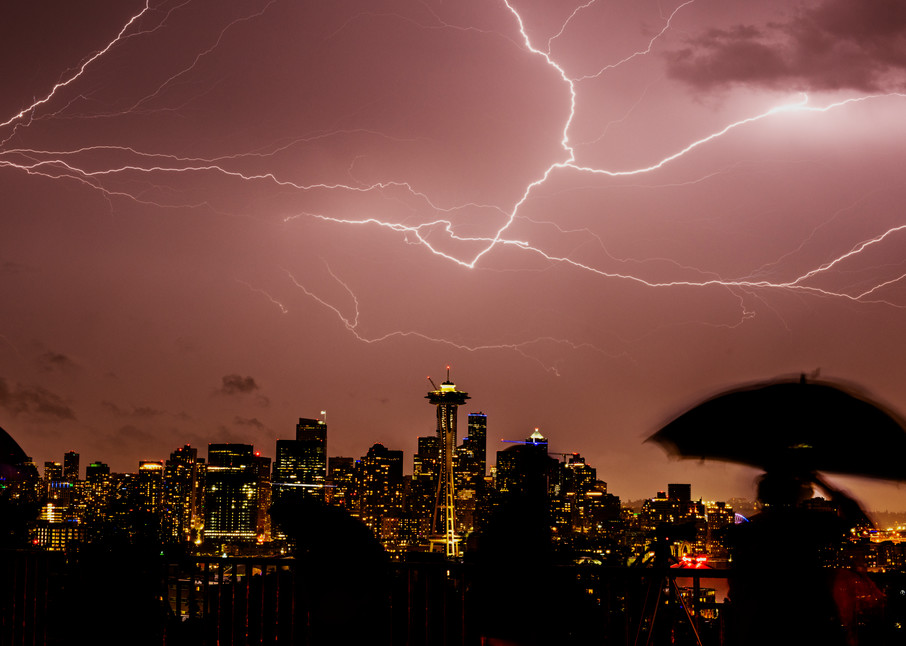 Seattle Lightning Storm Photography Art | Seattle Digital Photography
