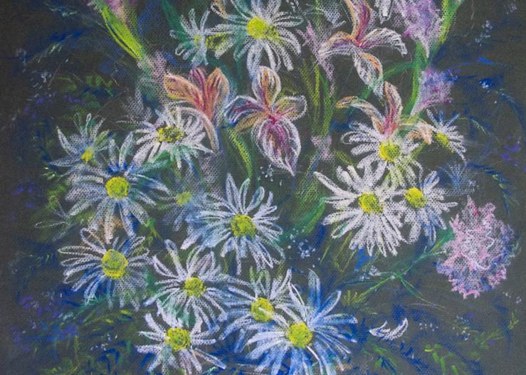 Floral, Pastel On Paper, 2004 Art   Roost Studios, Inc.