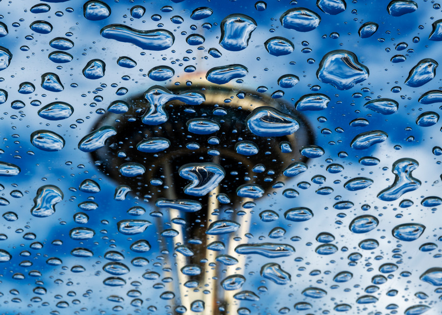 Raindrops, Seattle, Space Needle