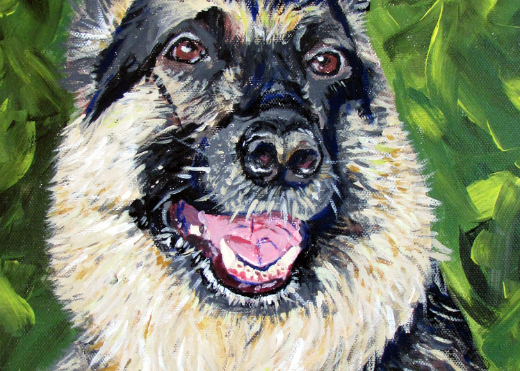 Cody The German Shephard Art   Linda Sacketti