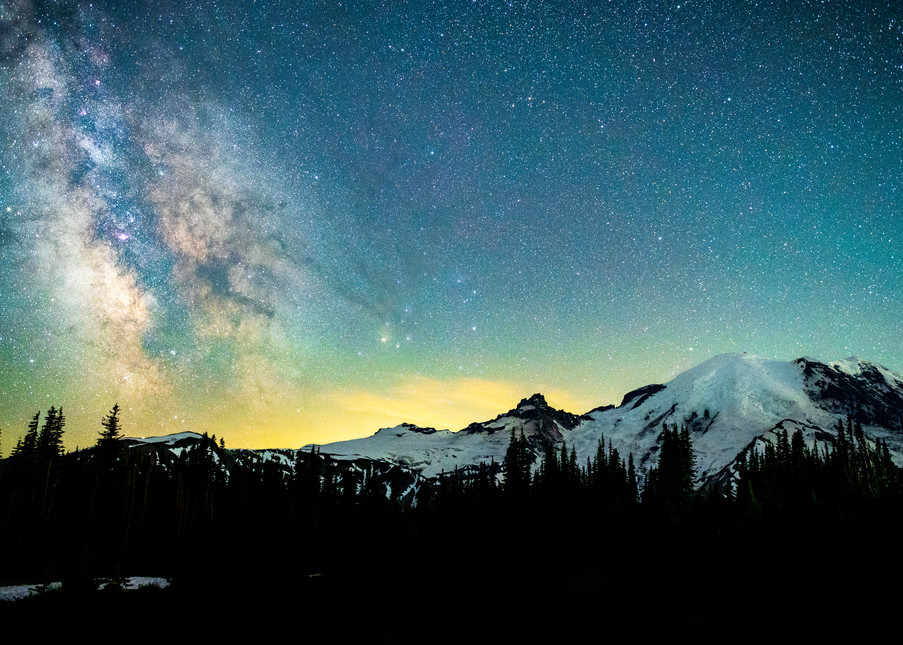 Galaxies At First Light Photography Art   Call of the Mountains Photography