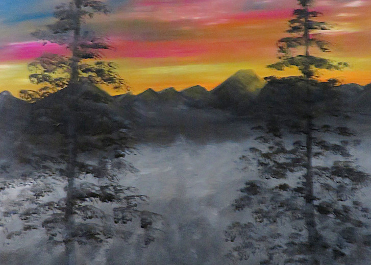 Foggy Sunrise In Pixio Art | Artist Ron Turner