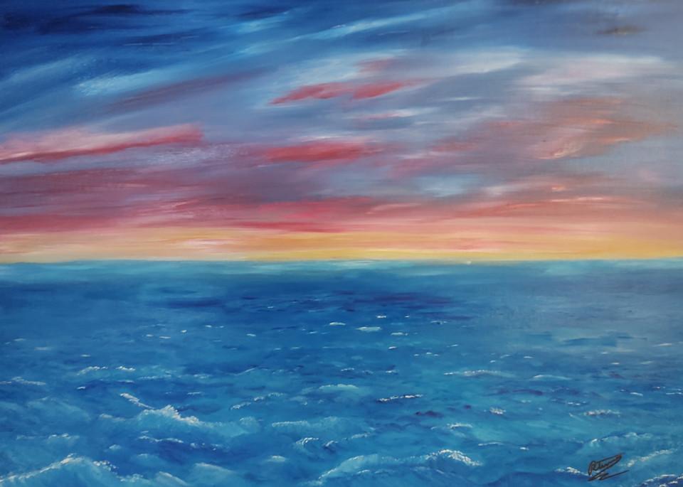 High Seas Sunset Art   Artist Ron Turner