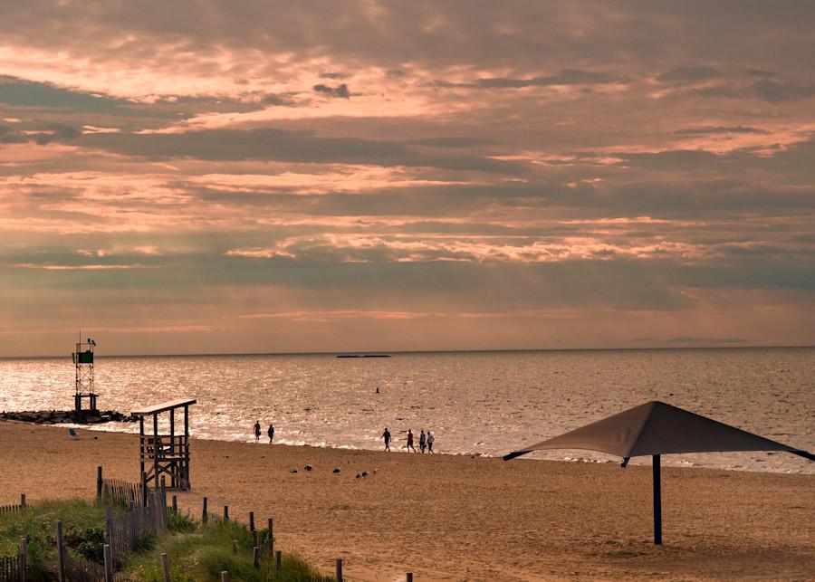 Walking On Yarmouth Beach, Cape Cod Photography Art   Ben Asen Photography