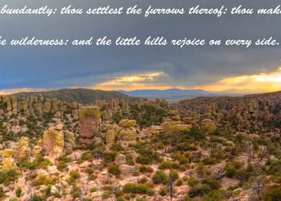 Chiricahua Panorama With Psalms: Shop prints | Lion's Gate Photography