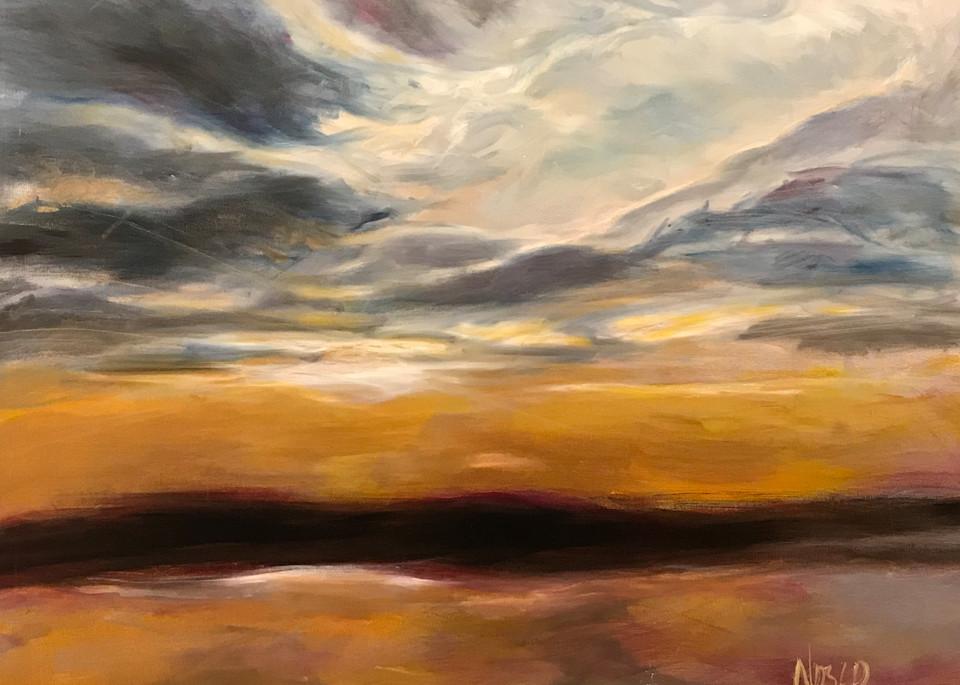 Wetlands Sunset Art | Nosco Fine Art