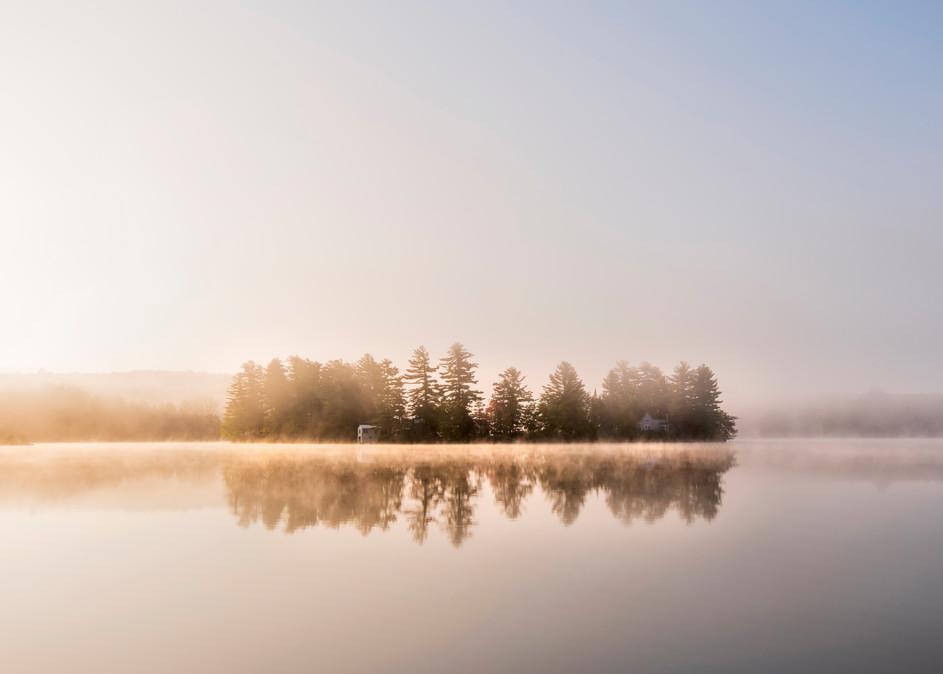 Otter Lake Misty Island  Photography Art | Kurt Gardner Photogarphy Gallery