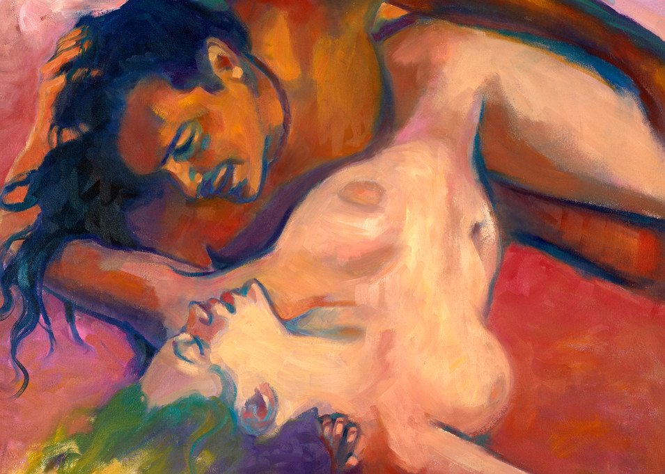 Isa Maria paintings, prints - portraits of lovers - Waging Peace