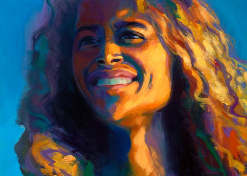 Isa Maria paintings, prints - Hawaii goddess portraits - Hotumatua, the First Navigator