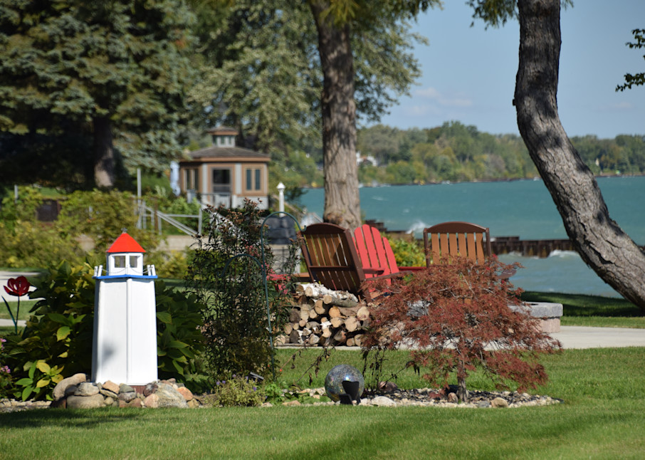 Lake Huron Lighthouse Art   DocSaundersPhotography