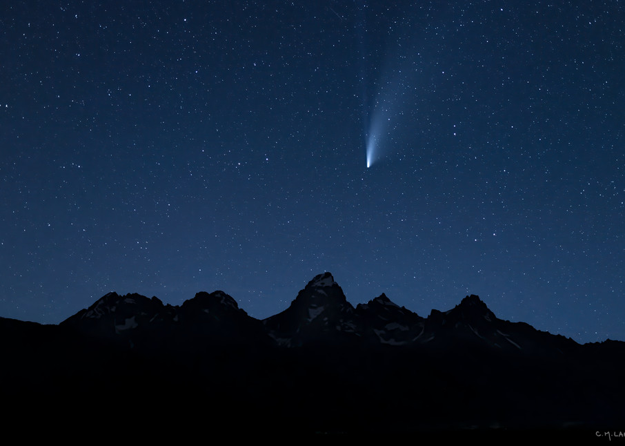 Comet Neowise Over The Teton Range #2147