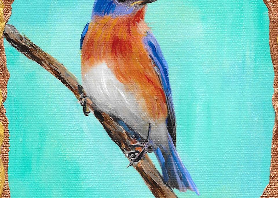 Eastern Bluebird Art   Channe Felton Fine Art