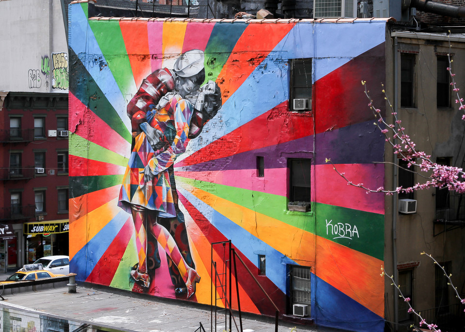 Graffiti Artist Sailor Kissing Nurse Photography Art   Julie Williams Fine Art Photography