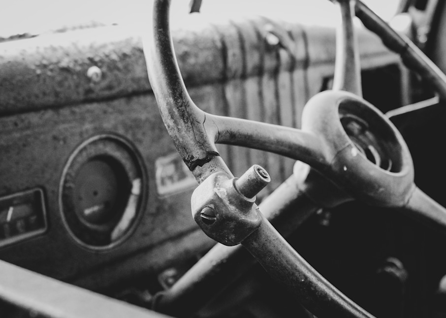 Rusted Round Steering Wheel Photography Art   Julie Williams Fine Art Photography