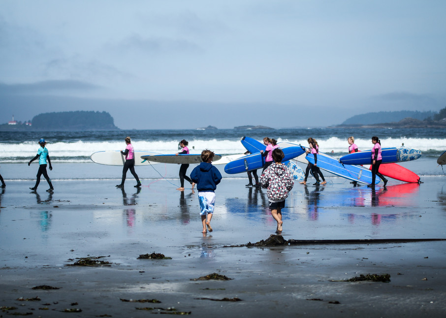 Surf Sisters, Tofino, Bc Photography Art | Julie Williams Fine Art Photography