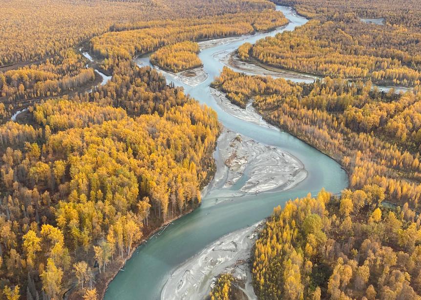 Talkeetna River Fall Photography Art | Visionary Adventures, LLC