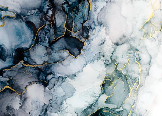 Blue green water inspired artwork