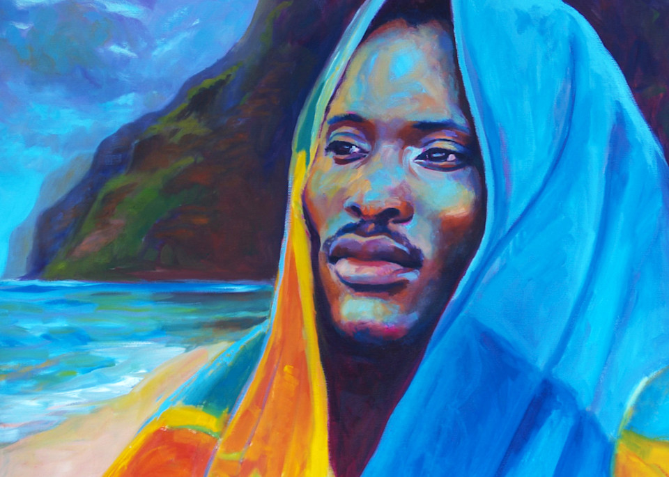 Isa Maria paintings, prints - Kauai, Hawaii portraits - Ernest and the Storm