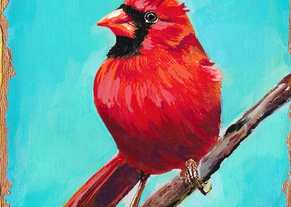 Male Cardinal Art | Channe Felton Fine Art