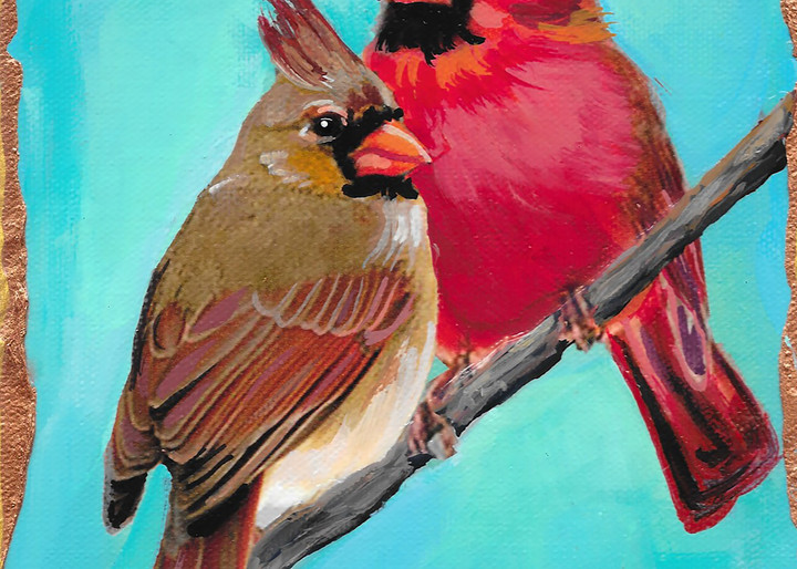 Male And Female Cardinals Art | Channe Felton Fine Art