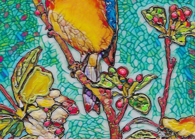 Blue Bird And Blossoms Art | Channe Felton Fine Art
