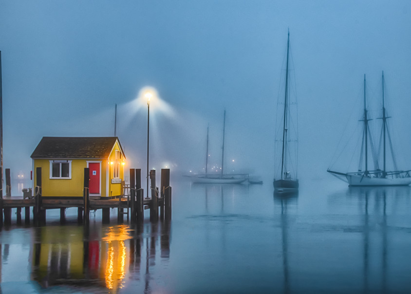 Tisbury Wharf Fog Art | Michael Blanchard Inspirational Photography - Crossroads Gallery
