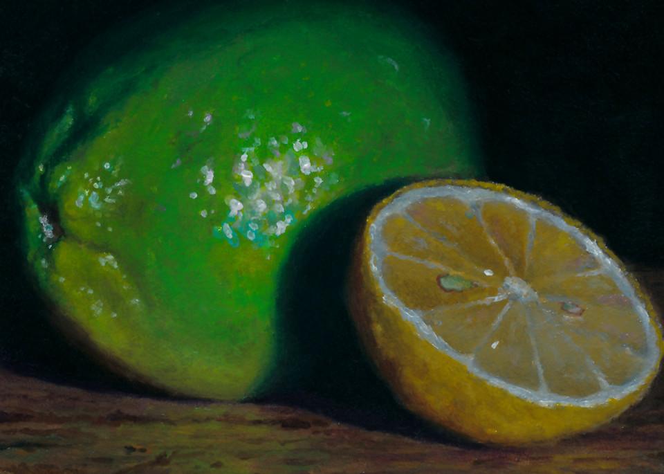 Lime And Sliced Lemon Art | Jeff Hayes Fine Arts