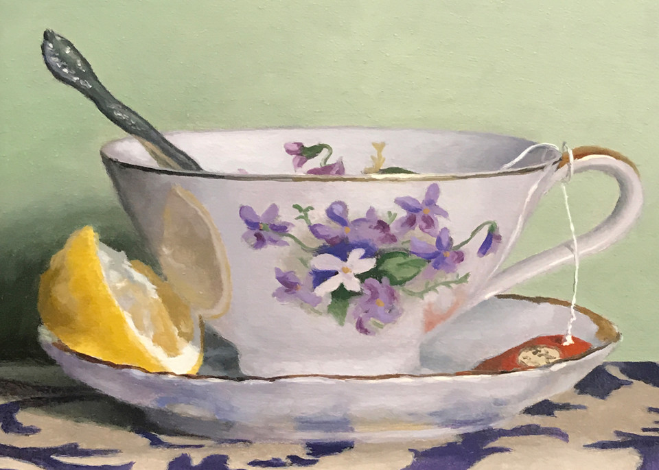 Teacup, Lemon, Silver Art   Jeff Hayes Fine Arts