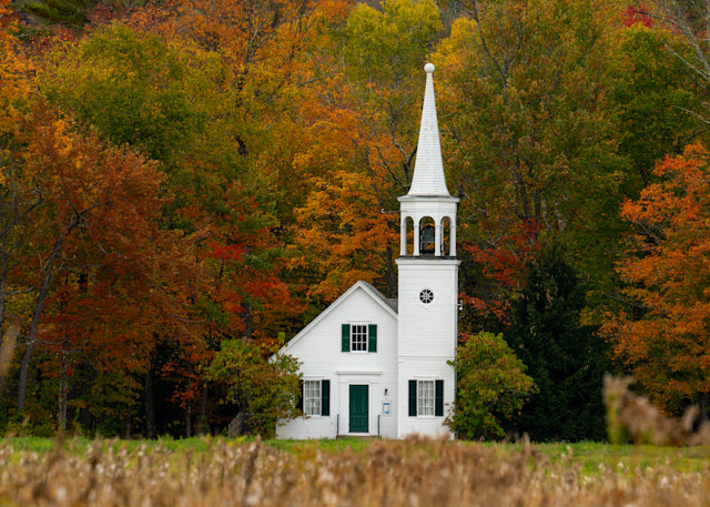 Autumn At Union Church Photography Art | Jesse MacDonald Photography