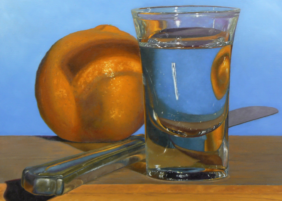 Tangerine, Knife, Shotglass Art | Jeff Hayes Fine Arts