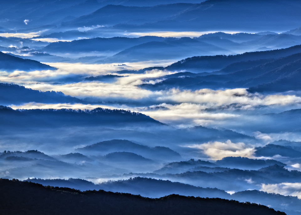 Morning Mist In the Smokies- Square | Shop Photography by Rick Berk
