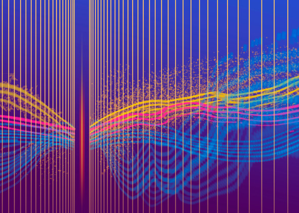 03 Energy Forces In Blue  Art | Meta Art Studios