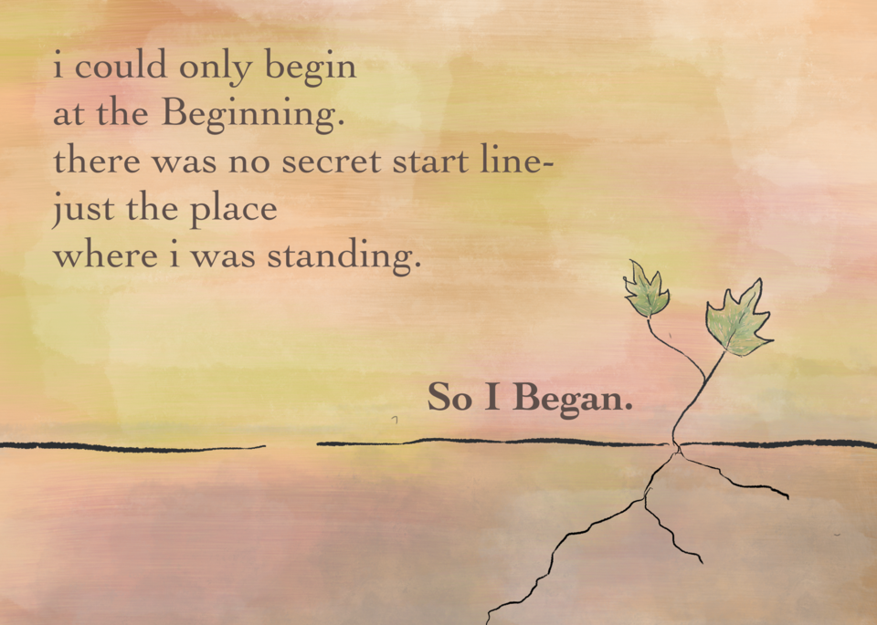 Beginnings - A story print for people who are ready to start