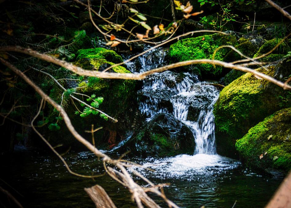 hidden, natural, nature, waterfall, waterflow, magical, jackierobbinsstudio, photographicprints, buyartonline