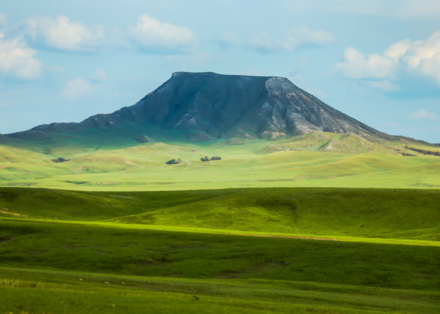 Photograph Wyoming Butte on The Prairie