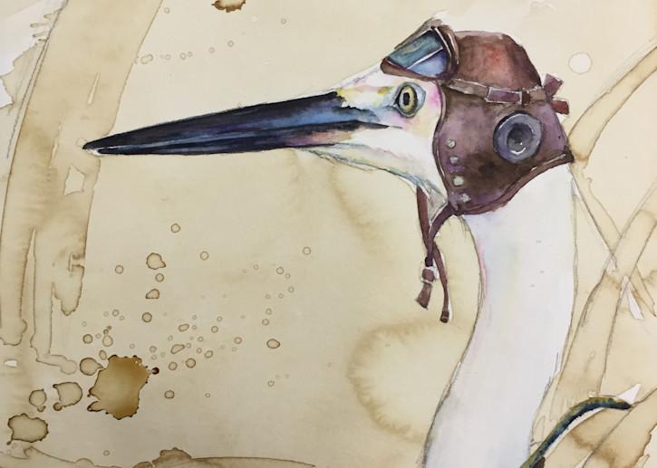 Fighter Pilot Crane Vintage Art | Christy! Studios